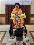 Swamishri honored with garland