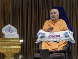 Swamishri with Shri Harikrishna Maharaj in the evening