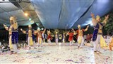 Youths from London perform cultural programs