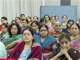 Devotees during satsang assembly