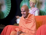 Pujya Mahant Swami during the Shibir