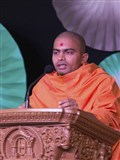 Adarshswarup Swami addresses the shibir