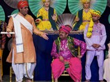 A skit presentation in Shri Hari Jayanti celebration asembly