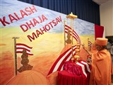Swamishri performs pujan of flagstaffs and kalash