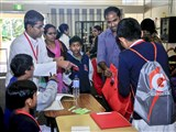 Children checking in for the shibir