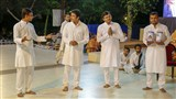 A skit presentation by youths from Surat before Swamishri