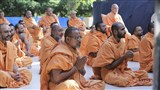 Sadhus participate in the annual janoi change rituals on Bhadarva Sud Trij - 'Sam Shravani'