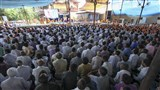 Devotees during Jal Jhilani celebration assembly