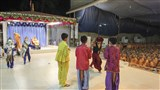 A skit presentation by chidren before Swamishri