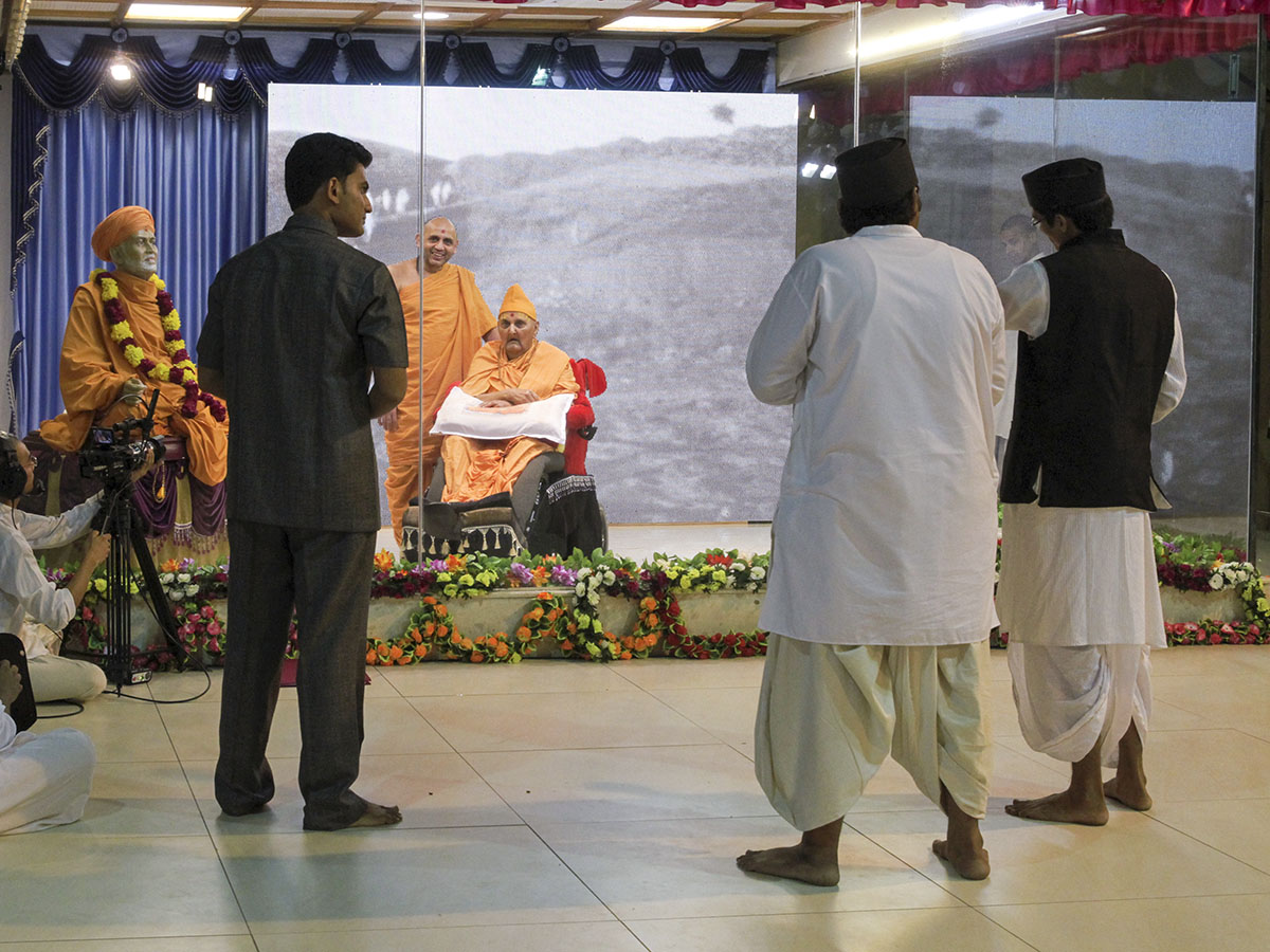 A skit presentation by devotees before Swamishri