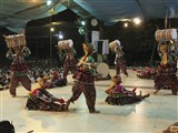 BAPS youths from Vadodara perform a cultural dance before Swamishri