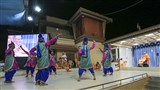 BAPS youths from Bhavnagar perform a cultural dance before Swamishri