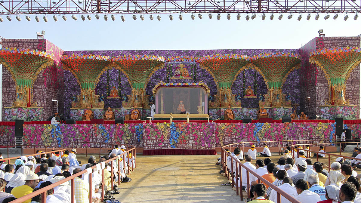 Pushpadolotsav assembly stage