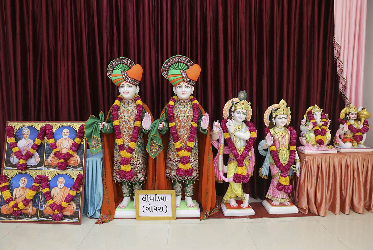 Murtis to be consecrated at new BAPS Shri Swaminarayan Mandir, Limadiya, India