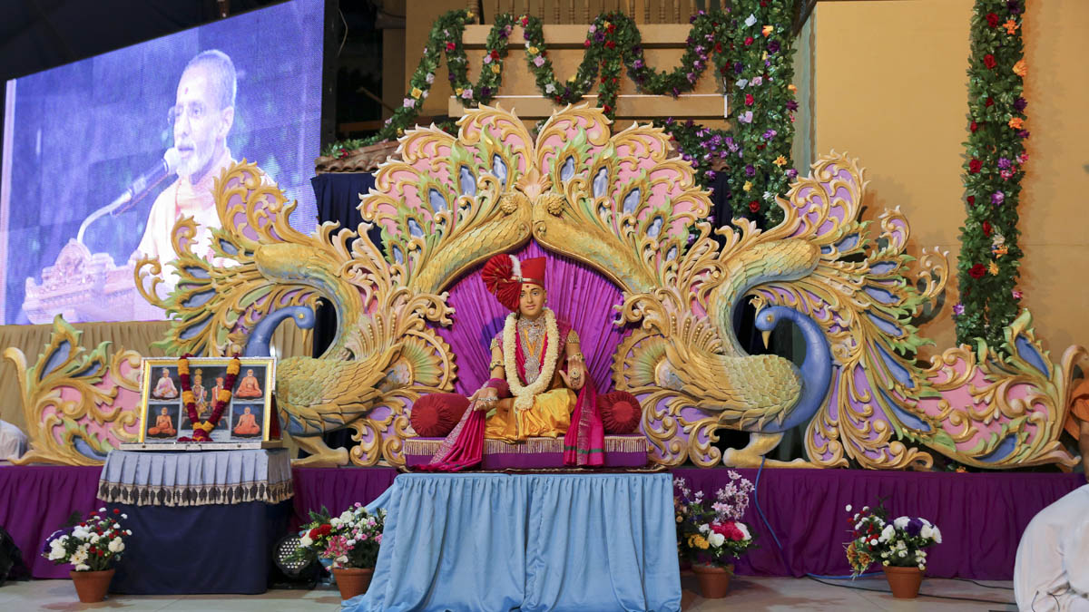 Shri Swaminarayan Jayanti celebration assembly in the evening