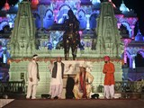 Skit presentation by youths depicting the history of Sarangpur Mandir