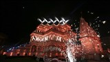 Light and sound show in the precincts of mandir