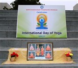 Stage at central lawn for International Day of Yoga celebration