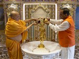 Chief Minister of Gujarat at Akshardham,