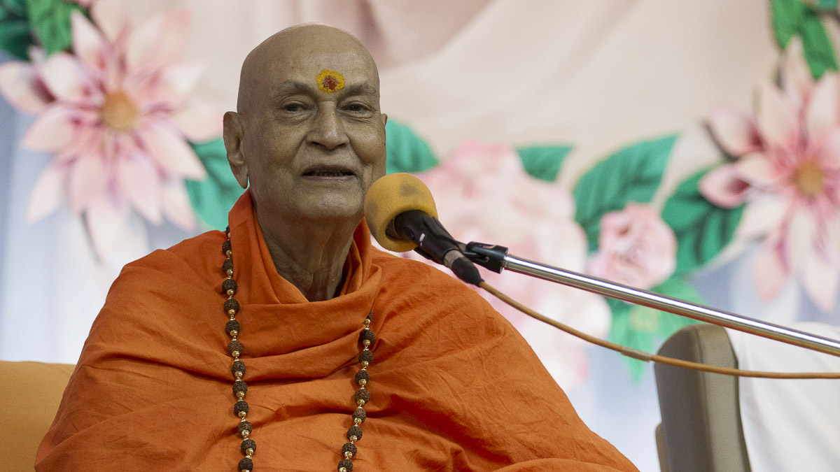 Swami Satyamitranand Giriji addresses the assembly, 8 Sep 2016