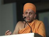 Narayancharan Swami addresses the assembly