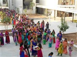 Students with Kalash walking to welcome the Murtis of Maharaj & Swami