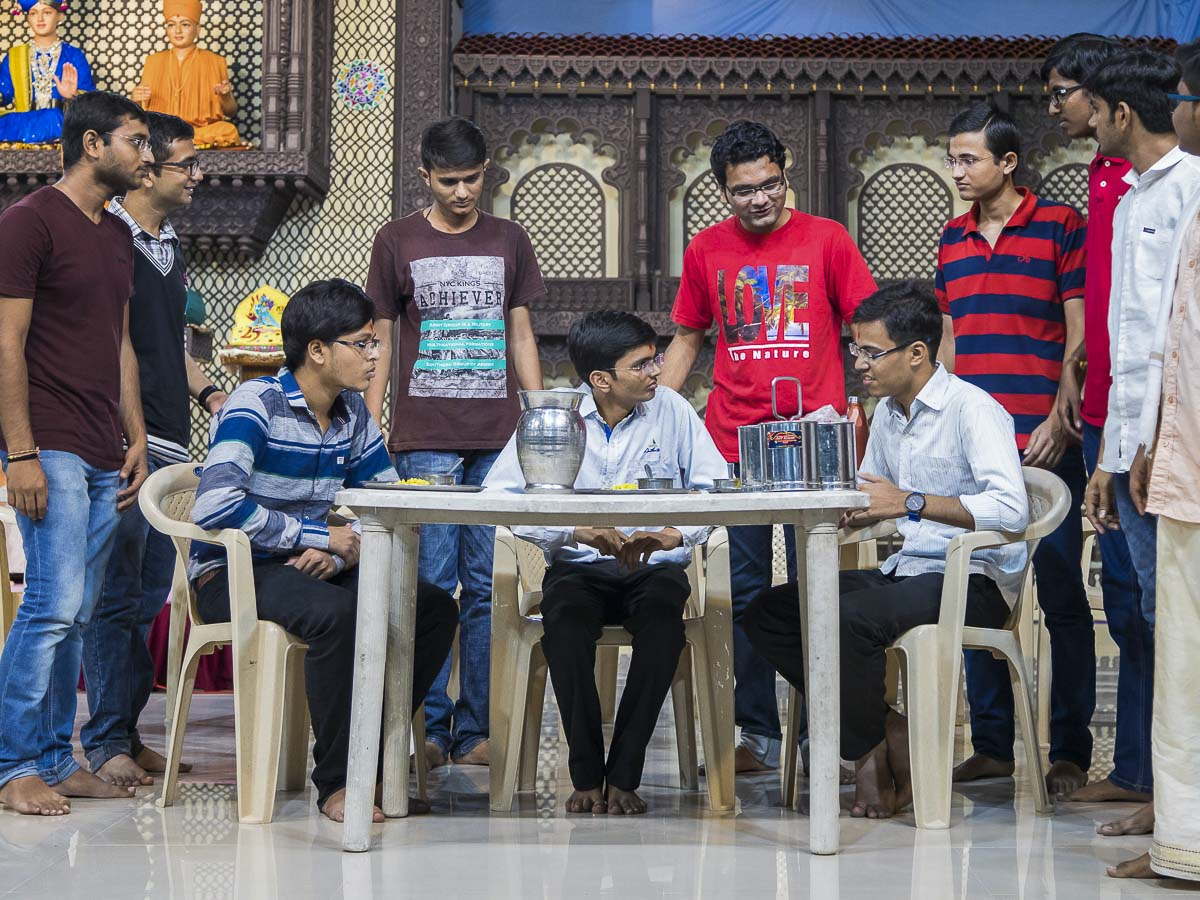 A skit presentation by youths, 1 Oct 2016