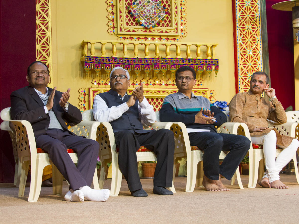 Dignitaries on stage during the assembly, 18 Jan 2017