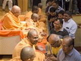 Pujya Tyagvallabh Swami blesses devotees