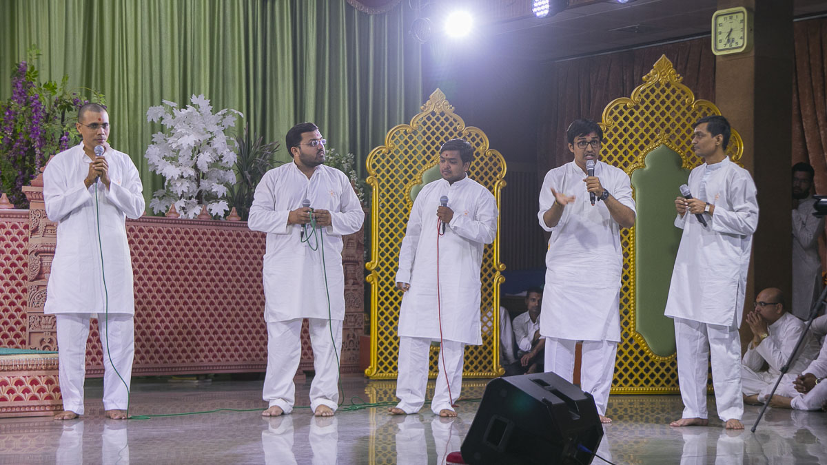 A skit presentation by youths in the assembly, 16 Apr 2017