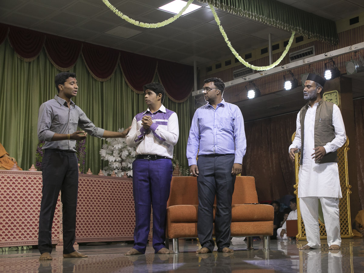 A skit presentation by youths, 17 Apr 2017