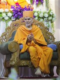 HH Mahant Swami Maharaj during the assembly