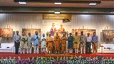 HH Mahant Swami Maharaj and dignitaries on stage