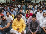 Devotees during the satsang assembly