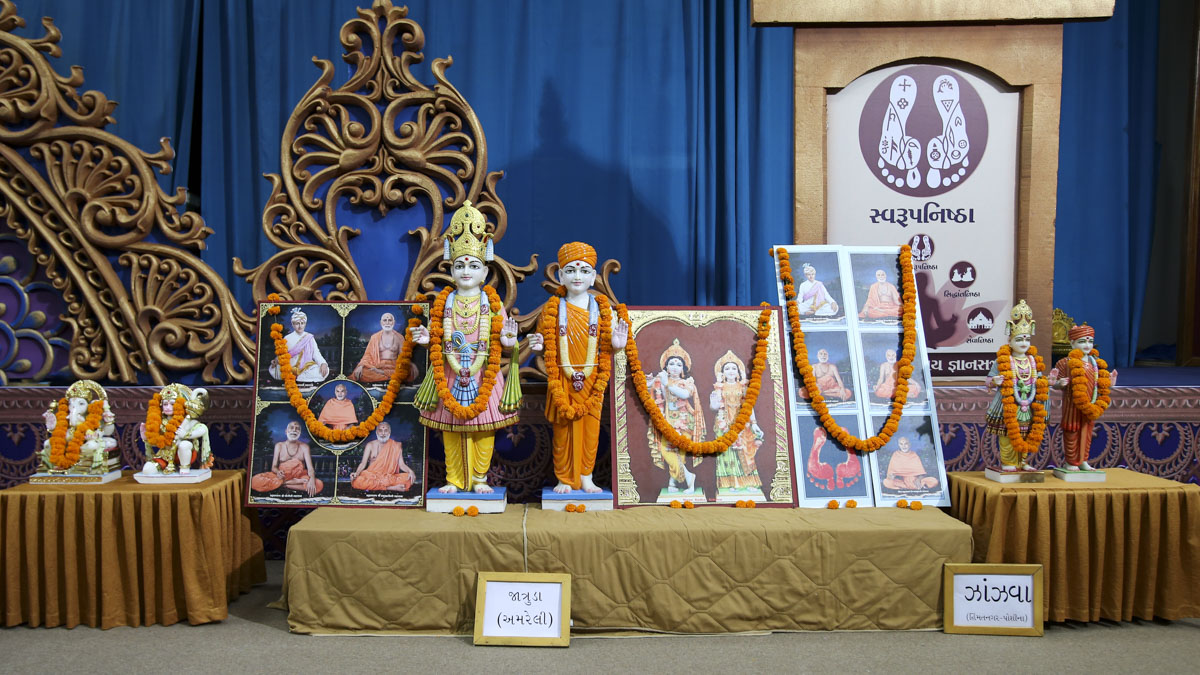 Murtis to be consecrated for new BAPS Shri Swaminarayan Mandirs in Jatruda and Jhanjhva, 2 June 2017