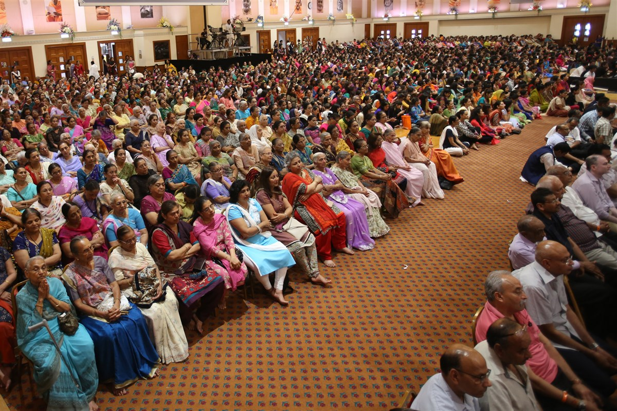 Devotees listened intently
