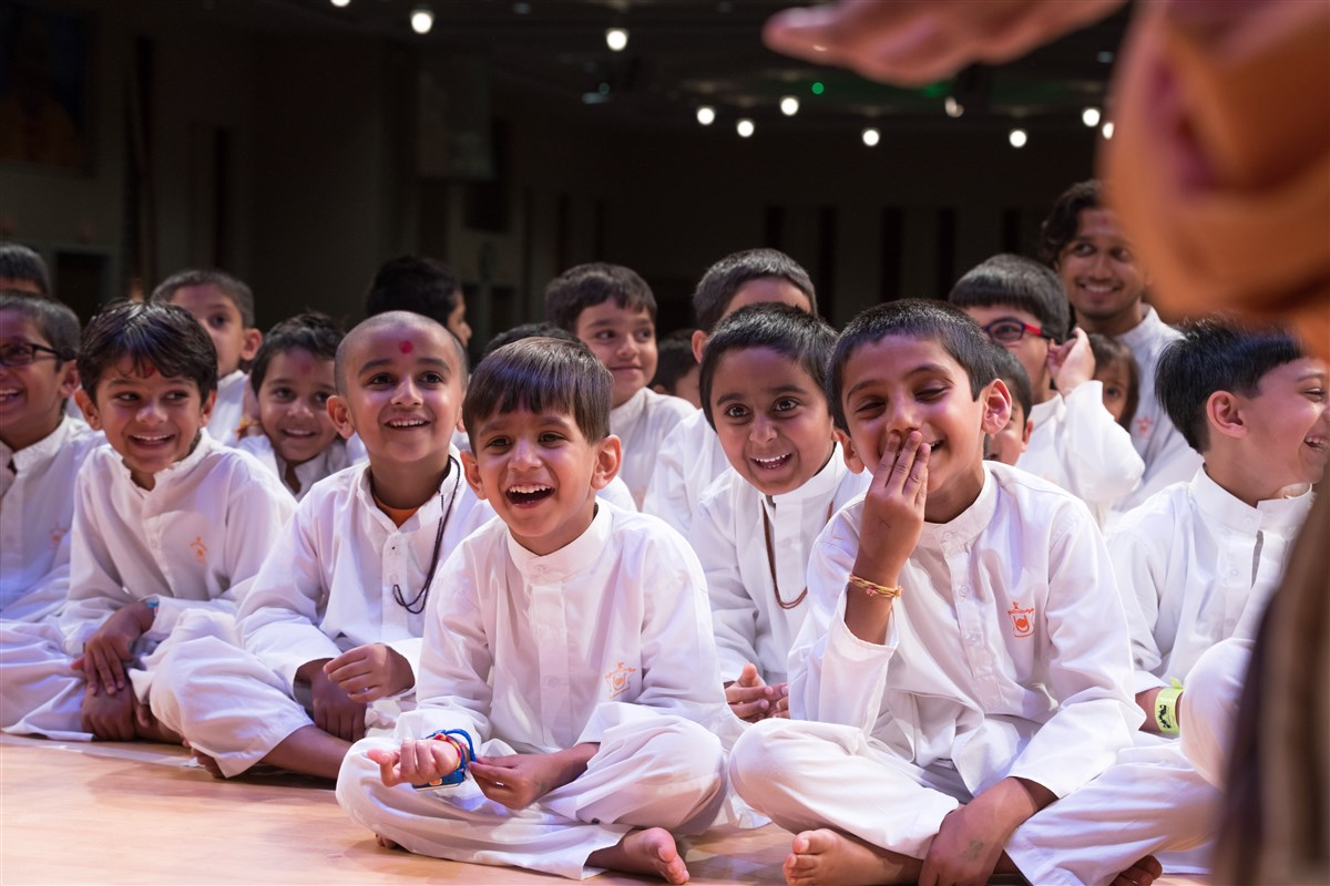 Children engaged in the program