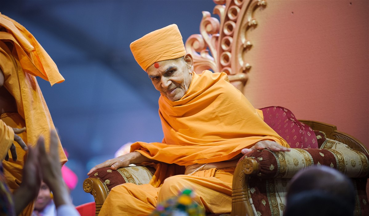 Swamishri in divine mood