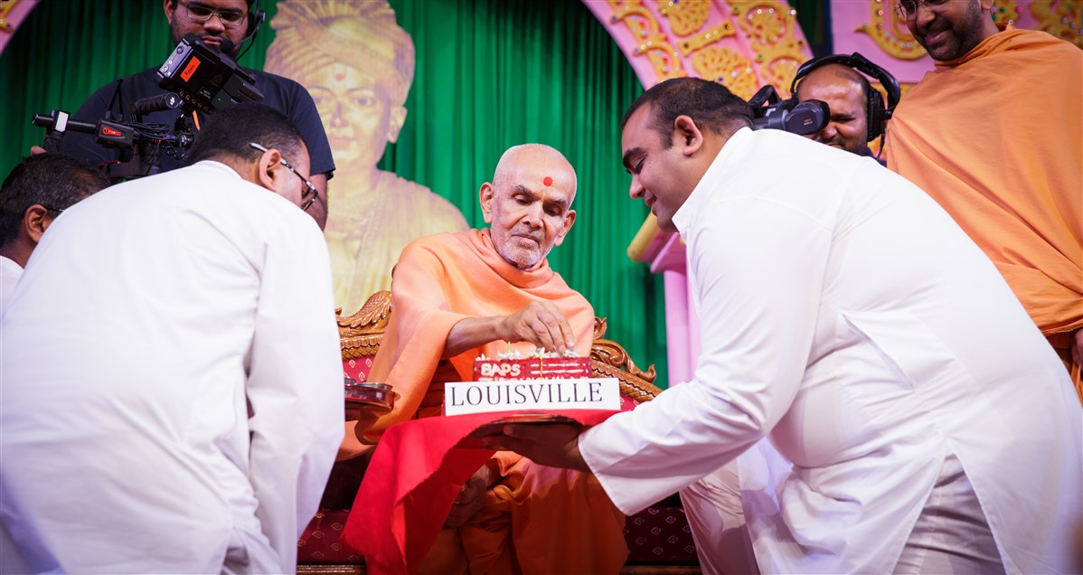 Swamishri blesses expansion plans of the BAPS Shri Swaminarayan Mandir, Louisville