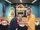 Paramchintan Swami welcomes Dr. A. M. Gondane (High Commissioner of India to Australia)