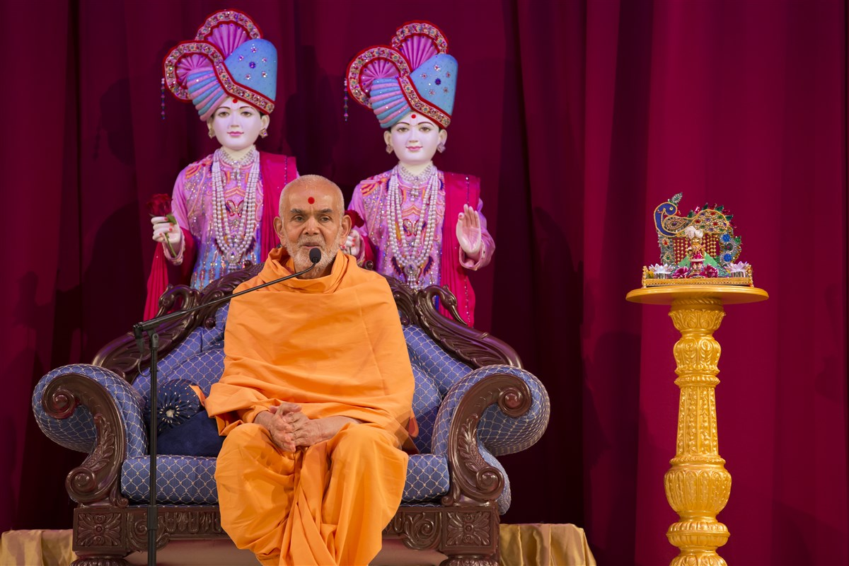 'World peace is a daily endeavour that begins in every home and heart.' - Mahant Swami Maharaj