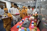 Swamishri observed an exhibition charting the history of Satsang in South London