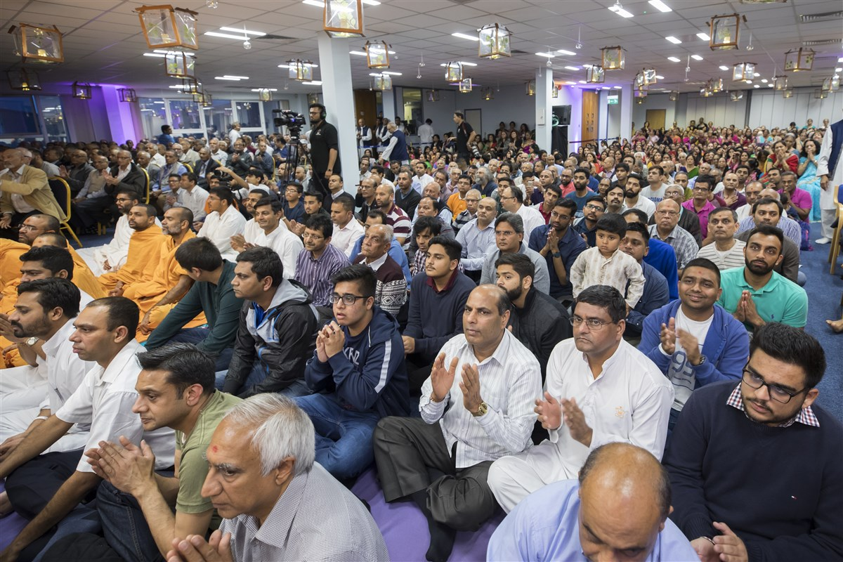 Devotees had gathered from South London and surrounding areas