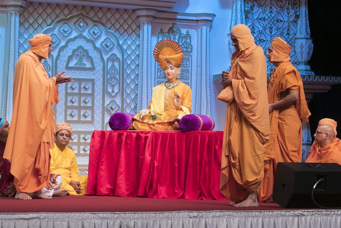 ... depicting his steadfast understanding of Bhagwan Swaminarayan as the supreme lord...