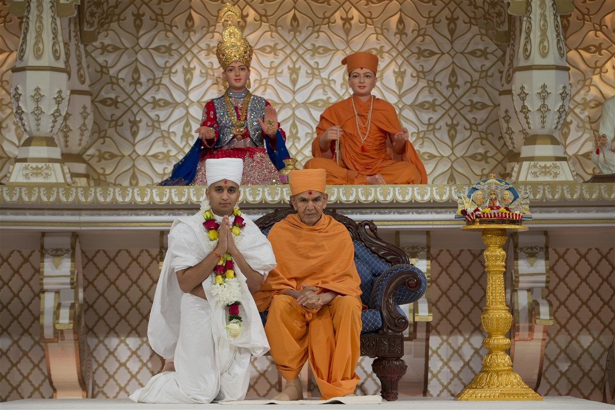 Swamishri names the new parshad, Punam Bhagat