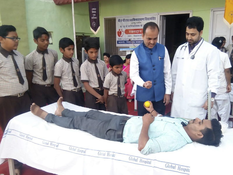 Blood Donation Camp at BAPS Swaminarayan Vidyamandir, Mt. Abu