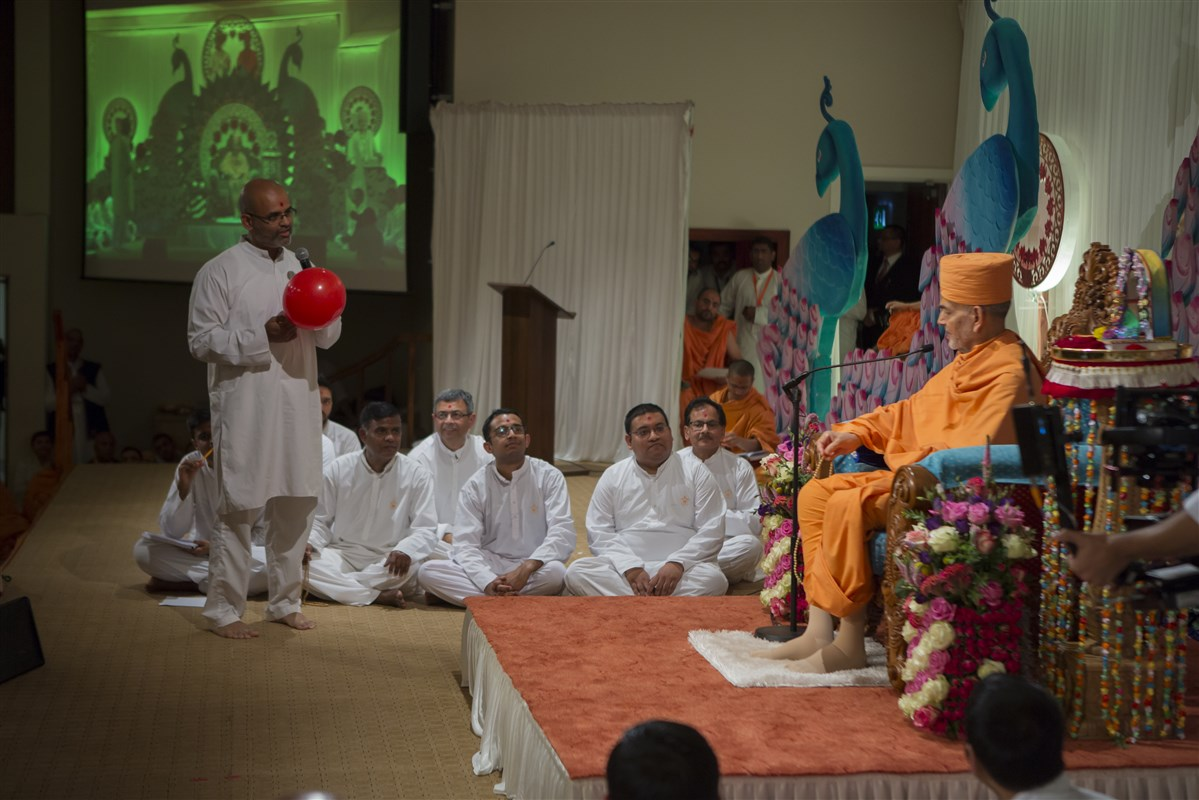 A devotee asks how to ensure that one is never deflated in Satsang