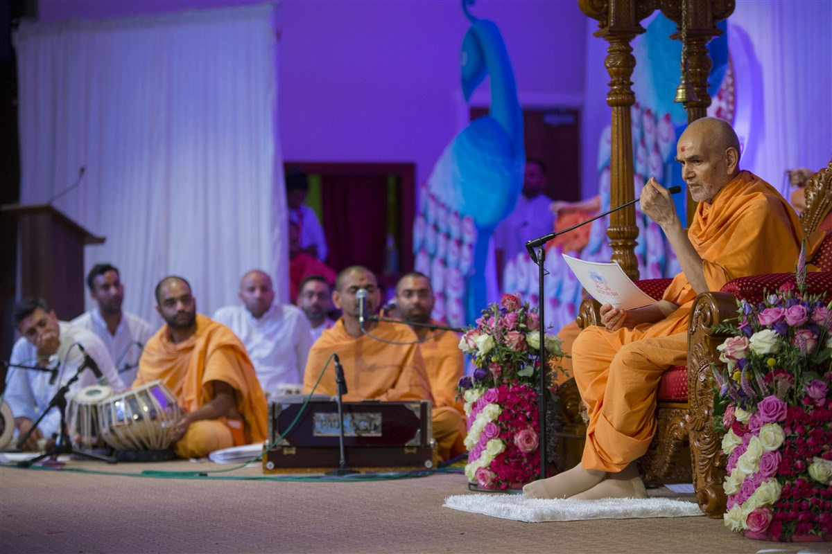 """Samp is the root and fruit of many spiritual endeavours."" - Mahant Swami Maharaj"