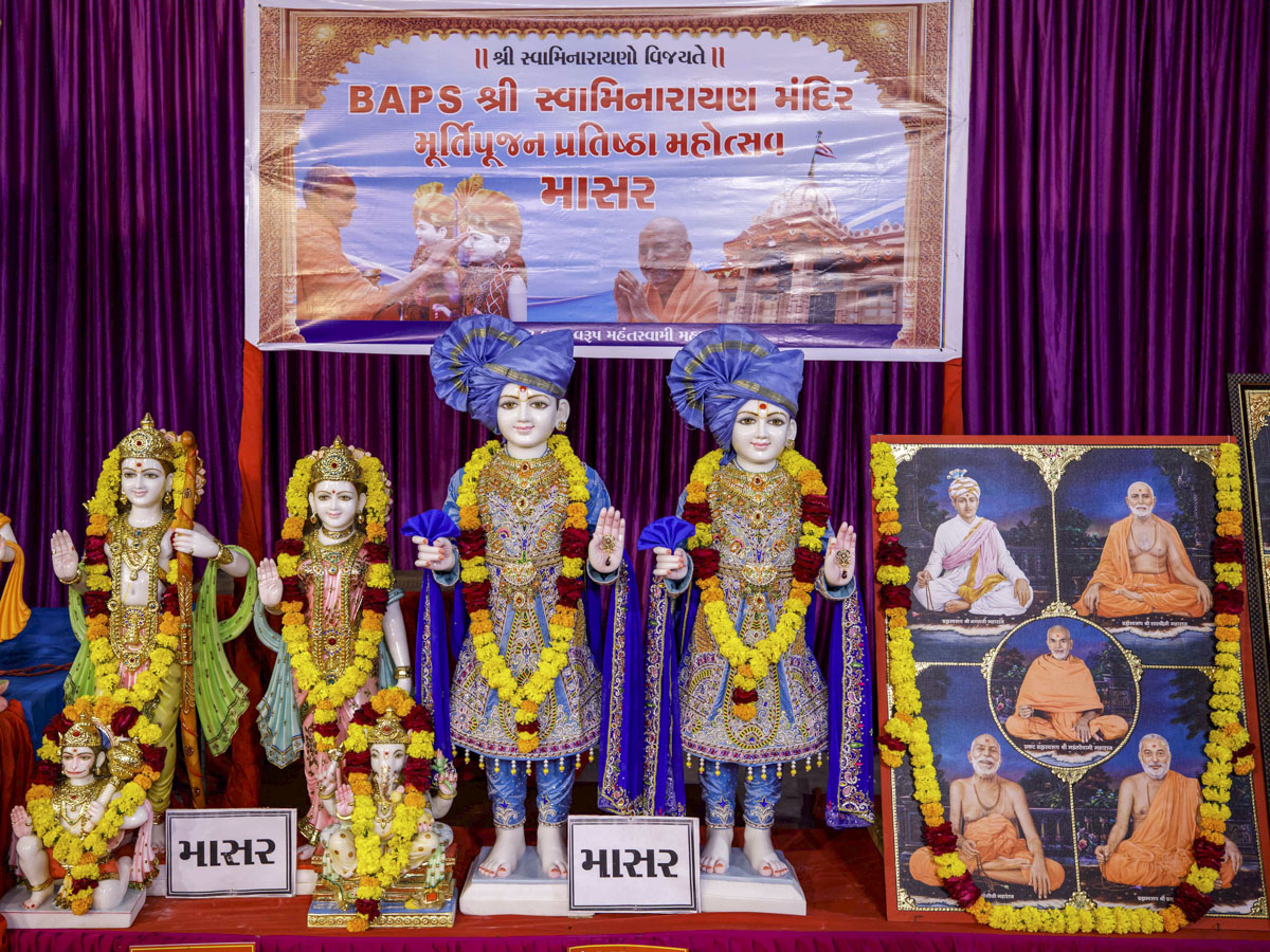 Murtis to be consecrated for the BAPS Shri Swaminarayan Mandir at Masar, India