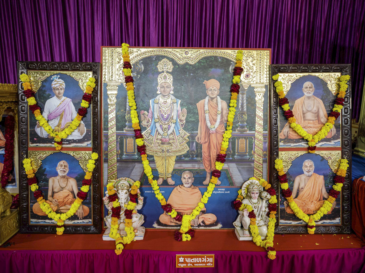 Murtis to be consecrated for the new BAPS Shri Swaminarayan Mandir at Patalganga, India
